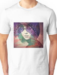 Abstract Retro Butterfly Woman Original Art Unisex T-Shirt