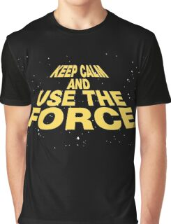 Keep Calm and Use the Force Graphic T-Shirt
