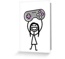 Gamer girl Greeting Card