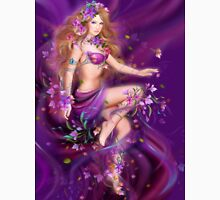 Fantasy Woman and purple flowers T-Shirt