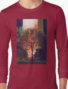 walls of castle at night Long Sleeve T-Shirt