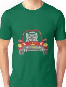 Cat on the car Unisex T-Shirt
