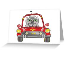 Cat on the car Greeting Card
