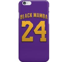 Black Mamba 24 Basketball Legend iPhone Case/Skin