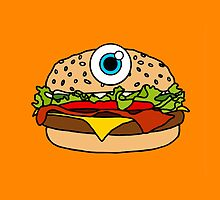 Cyclops Burger Orange by Lucy Lier