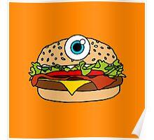 Cyclops Burger Orange Poster