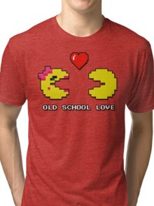 Old School Love - Ms. Pacman and Pac Man - Act I / Act One Tri-blend T-Shirt