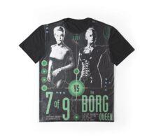 Star Trek's Seven of Nine vs The Borg Queen 'vintage' Fight poster Graphic T-Shirt