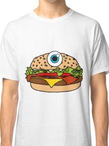 Cyclops Burger Pattern Pink Classic T-Shirt