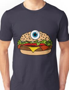 Cyclops Burger Pattern Pink Unisex T-Shirt