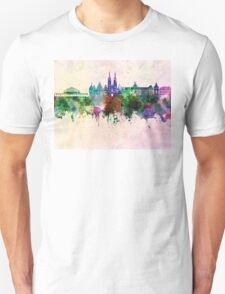 Wroclaw skyline in watercolor background Unisex T-Shirt