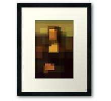 Da Vinci: Mona Lisa (computer-generated abstract version) Framed Print