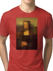 Da Vinci: Mona Lisa (computer-generated abstract version) Tri-blend T-Shirt