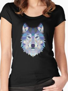 Polygonal Dire Wolf Women's Fitted Scoop T-Shirt