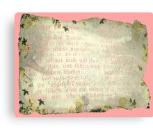PSALM 23 (WITH PINK LETTERING) Canvas Print