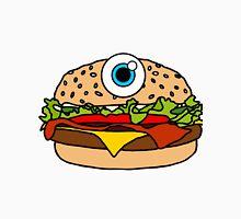 Cyclops Burger Pattern Purple  Unisex T-Shirt