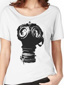 Gas Mask Illustration Women's Relaxed Fit T-Shirt
