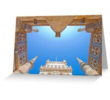 belem tower cloister. Greeting Card