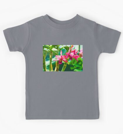 Tropical Impressions - Vibrant Pink Orchids Kids Tee