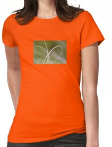 Macro of A Green Palm Tree Leaf Womens Fitted T-Shirt