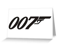 007 James Bond Greeting Card