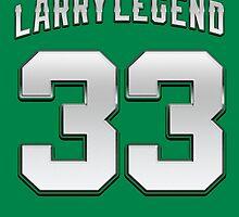 Larry Legend 33 Basketball Legend by MuralDecal