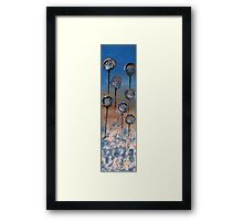 Abstract In Wheat, Blue and Chamoisee  Framed Print