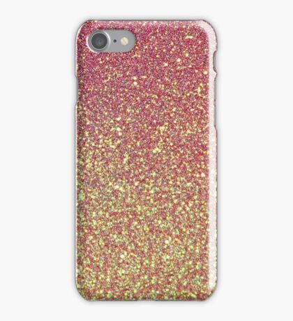 Pink Gold Glitter Texture iPhone Case/Skin