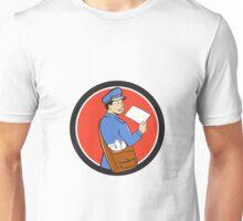 Mailman Deliver Letter Circle Cartoon Unisex T-Shirt