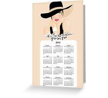 """mini calendar """"a certain je ne sais quoi"""" Greeting Card"""