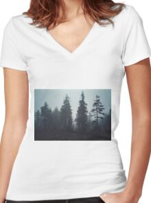 Leave In Silence Women's Fitted V-Neck T-Shirt