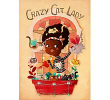 Crazy Cat Lady and her plants Photographic Print
