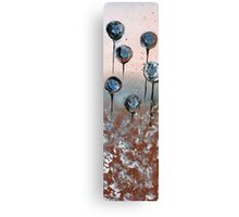 Abstract In Chamoisee, Blue and Wheat  Canvas Print
