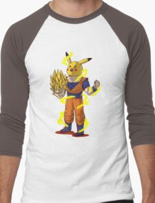 Goku Super Saiyan Unmasked Men's Baseball ¾ T-Shirt