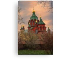 Finland. Helsinki. Russian Orthodox Cathedral. Canvas Print