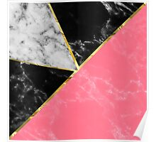 Marble color collection geometric abstract design Poster