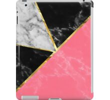 Marble color collection geometric abstract design iPad Case/Skin