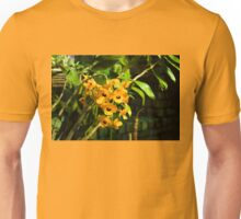 Tropical Impressions - Bright Yellow Orchid Smileys  Unisex T-Shirt