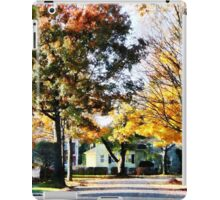 Autumn Street with Yellow House iPad Case/Skin