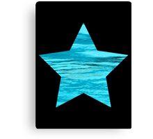 Aqua Water Star Canvas Print