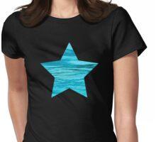 Aqua Water Star Womens Fitted T-Shirt