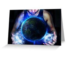 World is myn by paulpoyarkov Greeting Card