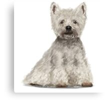 West Highland Terrier Illustration Canvas Print
