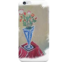 Flowers in the Triangular Pot  iPhone Case/Skin