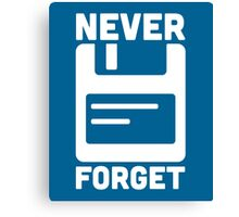 Never Forget Floppy Disk  Canvas Print