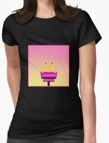 Arabic Mcdees Womens Fitted T-Shirt