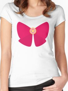 Sailor Moon Ribbon Women's Fitted Scoop T-Shirt