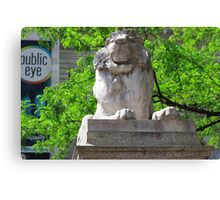 The Lions of New York Public Library  Canvas Print
