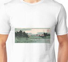 Fukeiga 14 - Hiroshige Ando - 1858 - woodcut Unisex T-Shirt