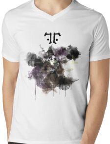 Watchmen- Rorschach Watercolor Portrait Mens V-Neck T-Shirt